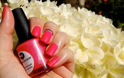 Bubble yummo Lilypad lacquer outdoors sunlight and my darling's hydrangea