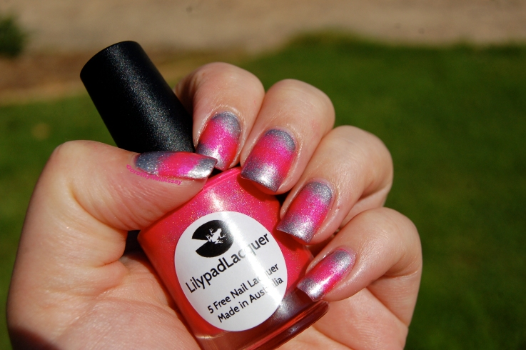 Dégradé Bubble yummo Lilypad lacquer et Your majesty Rimmel london