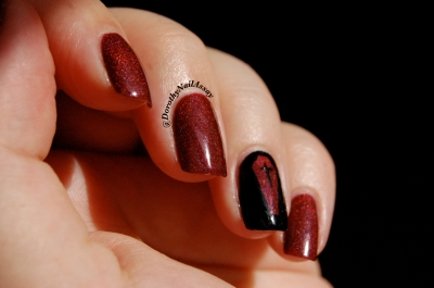 Blood shot Chirality, Nail art vampire chic au soleil (outdoors sunlight)