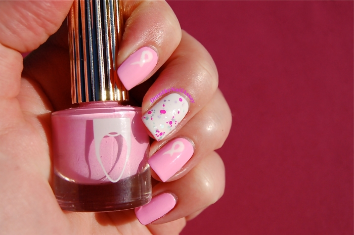 Nailstorming Octobre Rose: Floss Goss Perf, Glam Polish Aquanaut, Essie Blanc