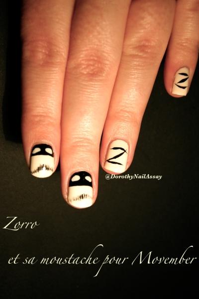 zorro nail art movember