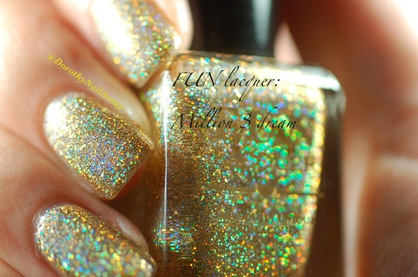 FUN lacquer swatch million dollar dream 6