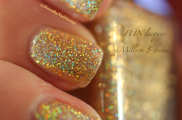 FUN lacquer swatch million dollar dream 7