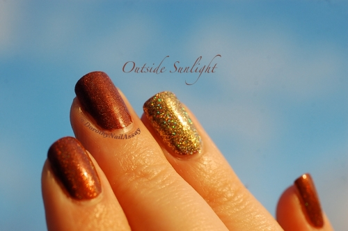 Merida accent nail million dollar dream fun lacquer, sunlight , outdoors.