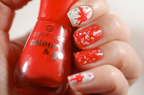Nail art inspired by christmas Chocolates , with Essence Redvolution