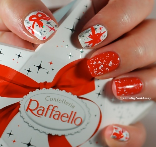 Nail art raffaelo, christmas chocolate inspiration for nailstorming Merry christmas