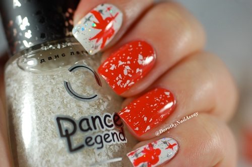 Nail art inspired by christmas Chocolates , with Dance legned Aztec top coat