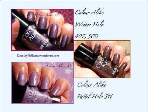 Colour alike polishes swatch