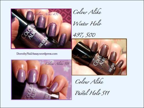 Colour alike polishes swatch