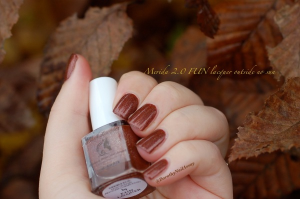 Merida FUN lacquer, outdoors no sun. Perfect for fall and winter seasons.