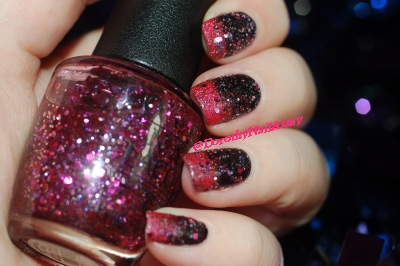 New year eve nail art with Aengland Lancelot, Lilypad Bubble Yummo and OPI Blush Hour,, indoors artificial lightening, no top coat.