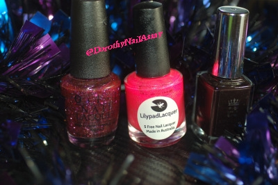 New year eve nail art, gradient with Aengland Lancelot, Lilypad Bubble Yummo and , OPI Blush Hour,.