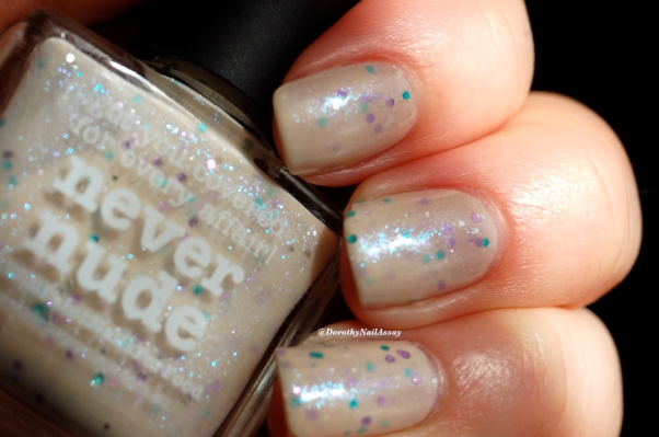 Swatch Never nude Picture polish 3 coats + top coat (HK girls), natural sunlight.