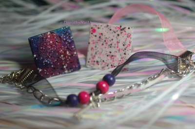 Les bijoux créées par Nelly et que j'ai eu la chance de gagner sur son blog