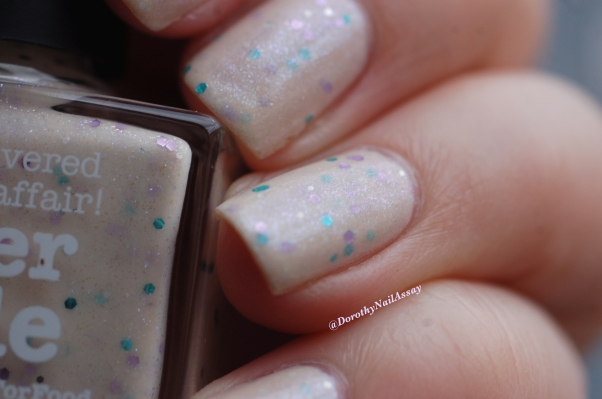 Swatch Never nude Picture polish 3 coats + top coat (HK girls), natural light.