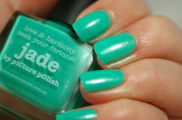 Swach Picture Polish Jade 2 coats + Top coat ( HK girls), natural light.