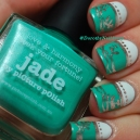 NAil Art vaisselle anglaise Jade metallic mushroom Picture Polish 8