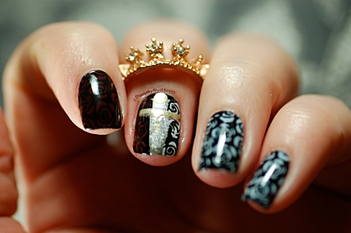 The White Queen TVshow inspired nail art