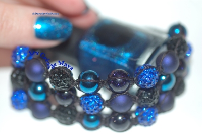 Swatch Il Etait Un Vernis Crush on blue + bracelet from Les Créas De Maya