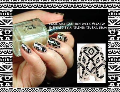 Nail Art fashion week 2015 Tribal/Aztec