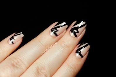 Nail Art fashion week inspired by shoes Manolo Blahnik 2