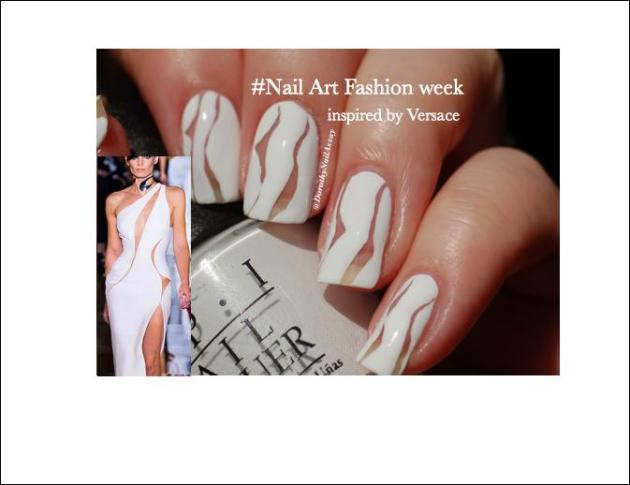 nail art fashion week 2015 inspired by Versace