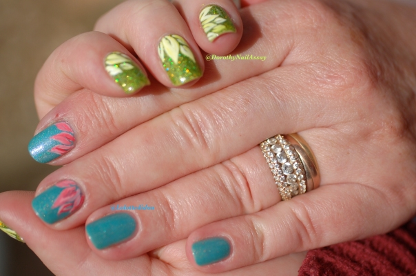 Spring flower nail art  Mum & Me