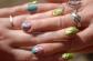 Spring flower nail art me & Mum