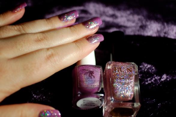 Nail art princess FUN lacquer Primma Donna et rapunzel