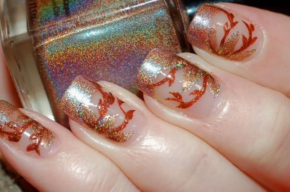 Nail art french japonisante FUN Lacquer New years eve, Merida, million dollar dream