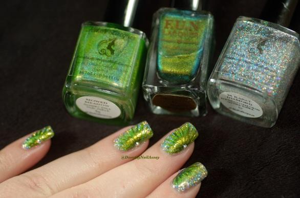 FUN lacquer contest c'est noel 24 karat diamond fireworks nail art 7