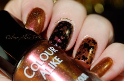 papillon inspiration nail art sur colour alike 549