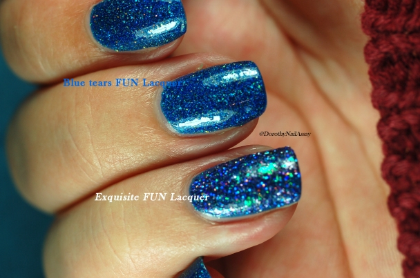 FUN lacquer blue tears comparison with FUN lacquer Exquisite