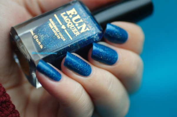 FUN lacquer blue tears natural light no sun