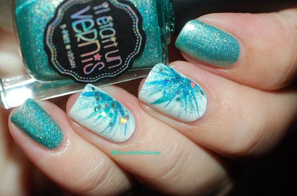 Nail Art Il etait un vernis inspiration Frozen
