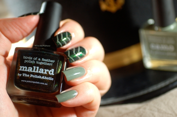 picture polish camo and mallard nail art 3