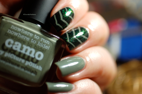picture polish camo and mallard nail art 5