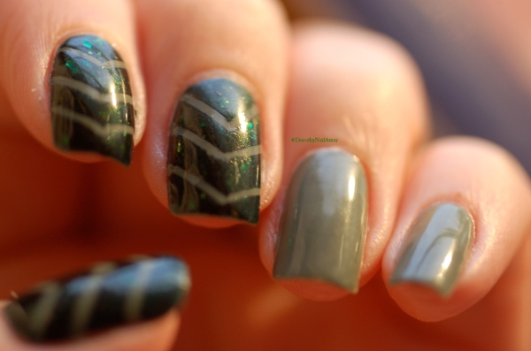 picture polish camo and mallard nail art