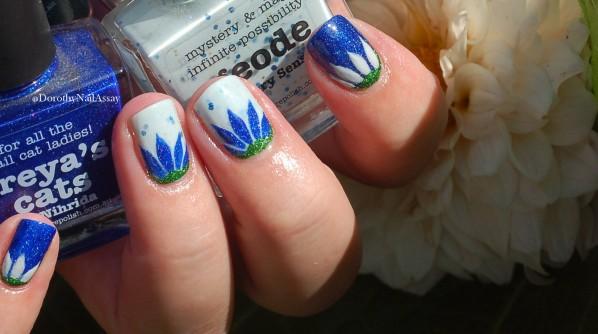 Picture Polish nail art challenge. Geode, Freya's cat, jaleousy, lakkodom