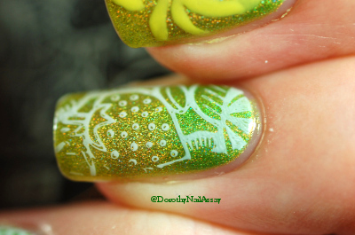 stamping Pueen et Fun lacquer
