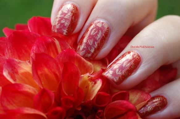 seductive marmalade FUN lacquer + stamping Pueen 93