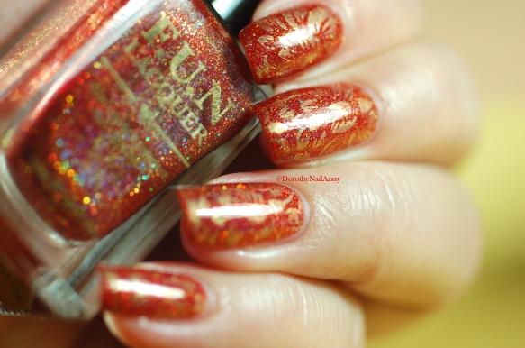 nail art flower seductive marmelade FUN lacquer stamping pueen 3