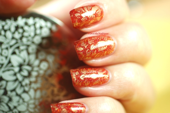 seductive marmalade FUN lacquer + stamping plate Pueen 93