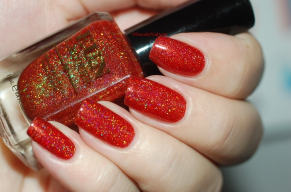 swatch seductive marmalade FUN lacquer 2 coats natural light