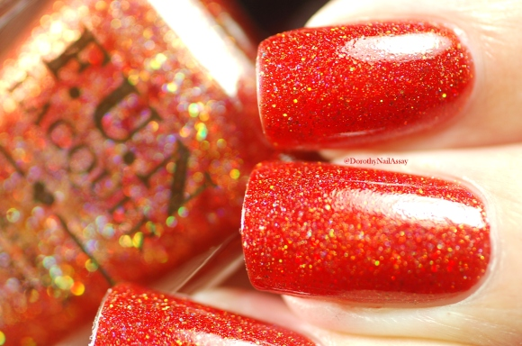 Macro of seductive marmalade FUN lacquer