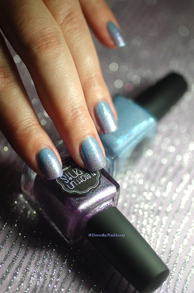 gradient IL Etait Un Vernis Hydrangea + Pleased to sweet you HOLO + shimmer = Magie