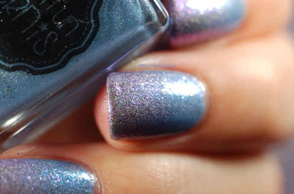 macrooo! gradient IL Etait Un Vernis Hydrangea + Pleased to sweet you HOLO + shimmer = Magie