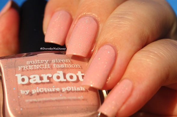 Swatch Bardot Picture Polish sunset light