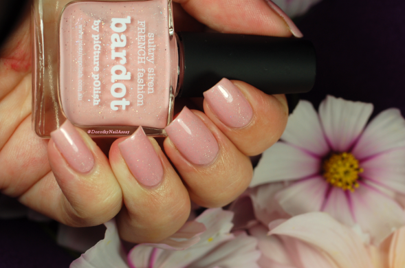 Swatch Bardot Picture Polish and cosmos from the garden