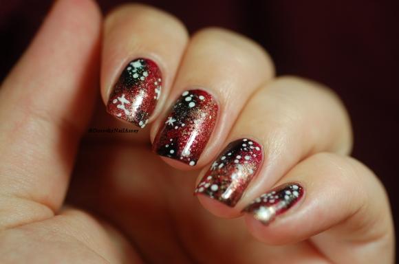 nail art galaxie d'automne